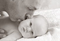 Dad and son face to face